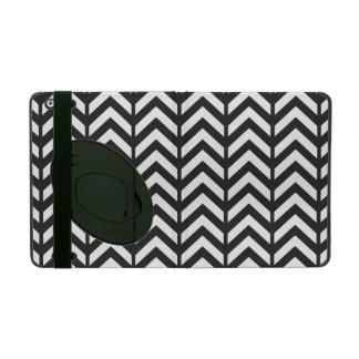 宇宙黒いシェブロン3 iPad ケース