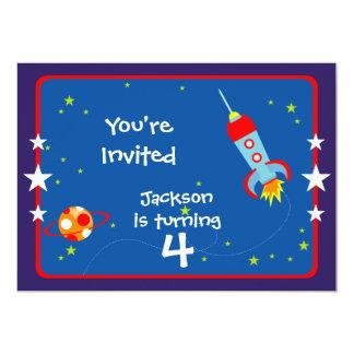 宇宙1匹の誕生日のパーティの招待状 カード