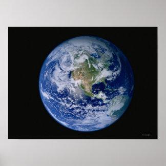 宇宙2から見られる北アメリカ ポスター