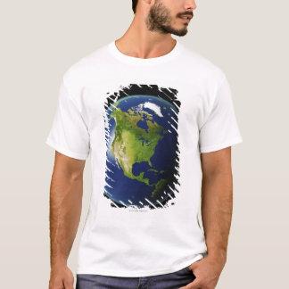 宇宙2から見られる北アメリカ Tシャツ