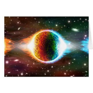宇宙 グリーティングカード