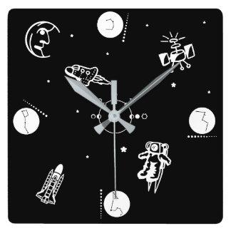 宇宙 スクエア壁時計