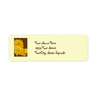 宇宙(宇宙のsulphureus)の花のラベル ラベル