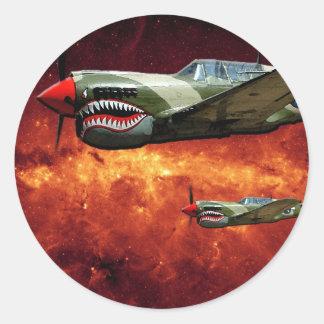 宇宙-想像のP-40s ラウンドシール