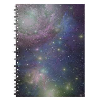 宇宙、星、銀河系および星雲 ノートブック