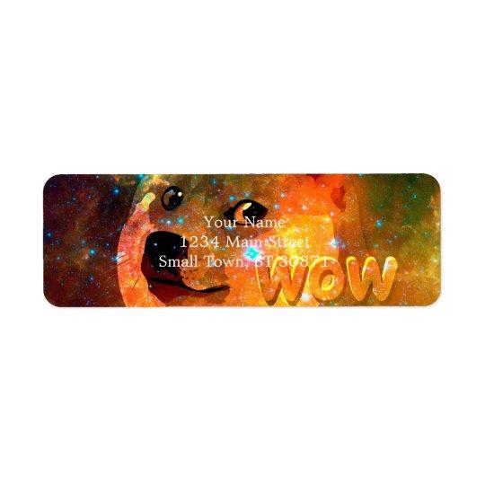宇宙-総督- shibe - wow総督 返信用宛名ラベル
