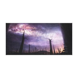 宇宙-魔法の夜空と接触して キャンバスプリント