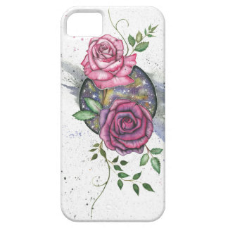 宇宙、iPhoneの場合のピンクのバラ iPhone SE/5/5s ケース