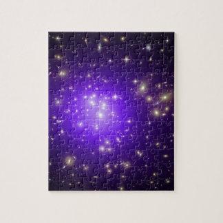 宇宙NASAの紫色の星の霞 ジグソーパズル