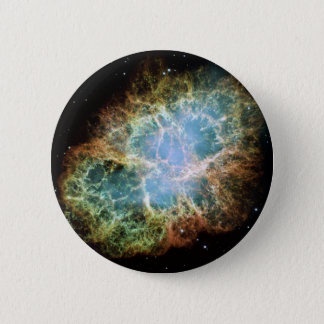 宇宙NASAの蟹星雲 5.7CM 丸型バッジ
