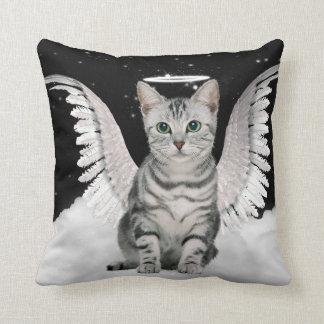 守り神の銀の虎猫猫ペット恋人 クッション