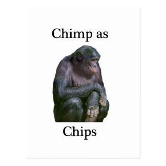 安くチンパンジーとして ポストカード