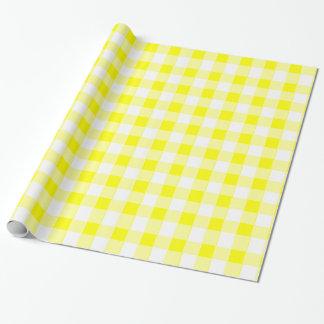 安っぽく黄色いテーブルクロス ラッピングペーパー