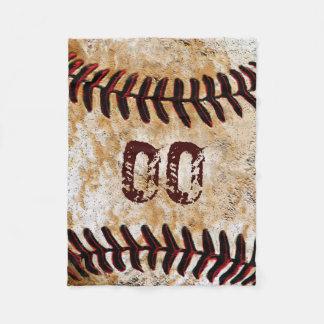 安価で名前入りな野球のフリースブランケット フリースブランケット
