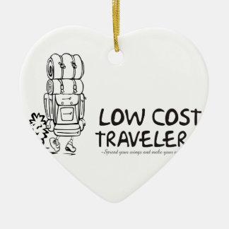 安価の旅行者 セラミックオーナメント