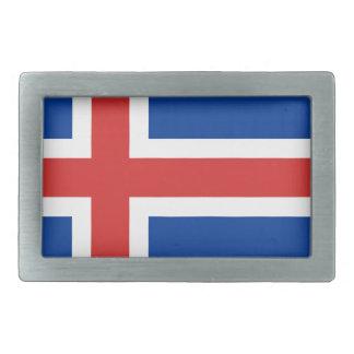 安価! アイスランドの旗 長方形ベルトバックル