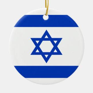 安価! イスラエル共和国の旗 セラミックオーナメント