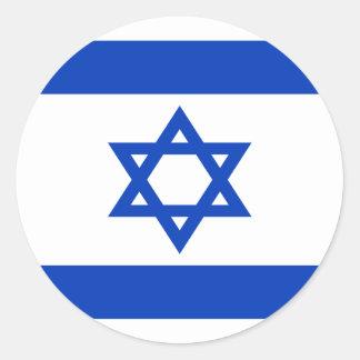 安価! イスラエル共和国の旗 ラウンドシール