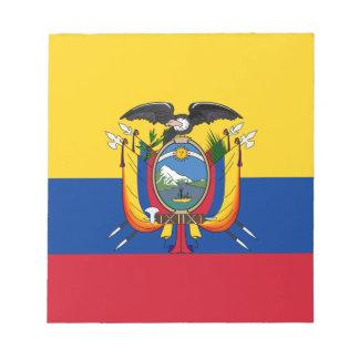 安価! エクアドルの旗 ノートパッド