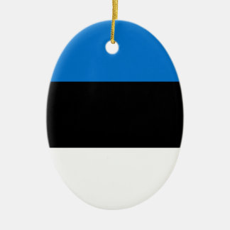 安価! エストニアの旗 セラミックオーナメント