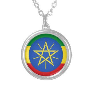 安価! エチオピアの旗 シルバープレートネックレス