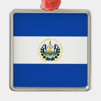 安価! エルサルバドルの旗 メタルオーナメント