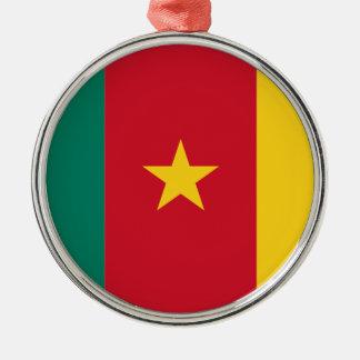 安価! カメルーンの旗 メタルオーナメント
