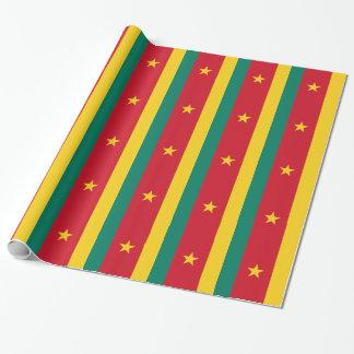 安価! カメルーンの旗 ラッピングペーパー