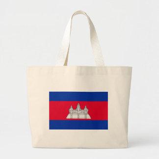 安価! カンボジアの旗 ラージトートバッグ