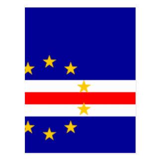 安価! カーボベルデ共和国の旗 ポストカード