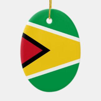 安価! ガイアナの旗 セラミックオーナメント