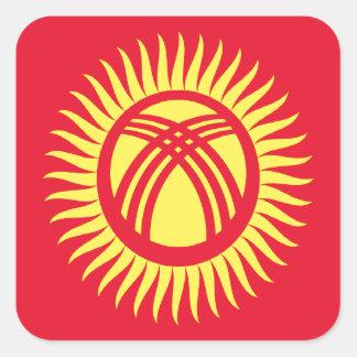 安価! キルギスタンの旗 スクエアシール