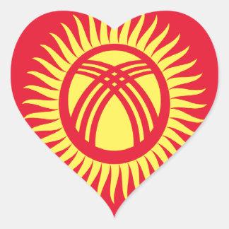 安価! キルギスタンの旗 ハートシール