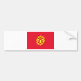 安価! キルギスタンの旗 バンパーステッカー