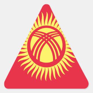 安価! キルギスタンの旗 三角形シール