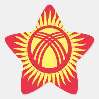 安価! キルギスタンの旗 星シール