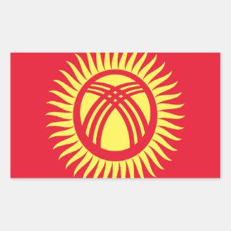 安価! キルギスタンの旗 長方形シール