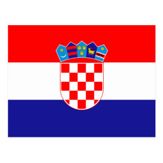 安価! クロアチアの旗 はがき