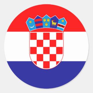 安価! クロアチアの旗 ラウンドシール