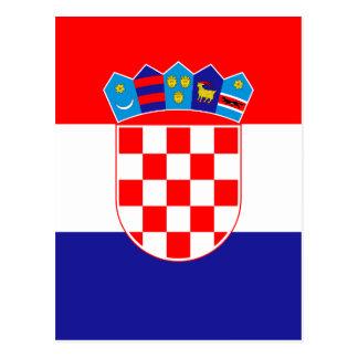 安価! クロアチアの旗 葉書き