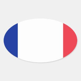 安価! グアダループの旗 楕円形シール