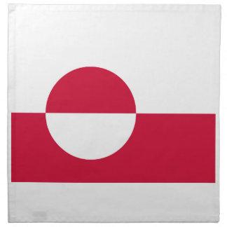 安価! グリーンランドの旗 ナプキンクロス