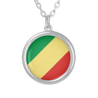 安価! コンゴの旗 シルバープレートネックレス