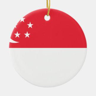安価! シンガポールの旗 セラミックオーナメント