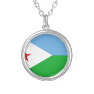 安価! ジブチの旗 シルバープレートネックレス