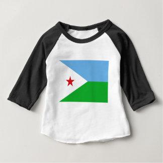 安価! ジブチの旗 ベビーTシャツ