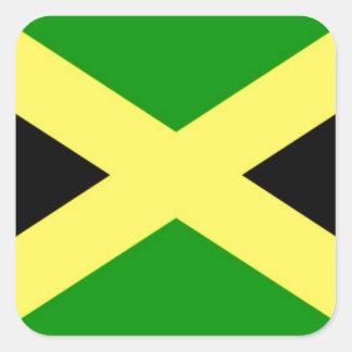 安価! ジャマイカの旗 スクエアシール