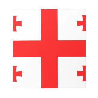 安価! ジョージアの旗 ノートパッド