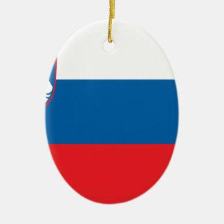 安価! スロベニアの旗 セラミックオーナメント