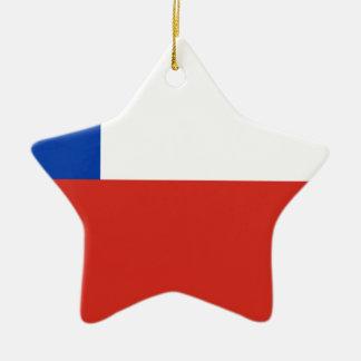 安価! チリの旗 セラミックオーナメント